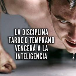 La disciplina tarde o temprano vencera a la inteligencia