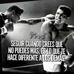 Seguir cuando crees que no puedes más, es lo que te hace diferente a los demás.