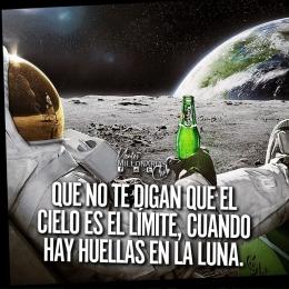 Que no te digan que el cielo es el límite, cuando hay huellas en la luna