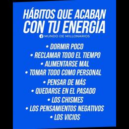 Hábitos que acaban con tu energía
