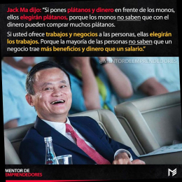 Jack Ma Plátanos y dinero - Monos