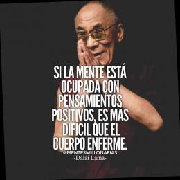 Si la mente está ocupada con pensamientos positivos, es más difícil que el cuerpo enferme