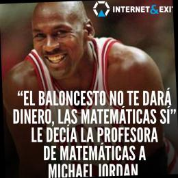 El caloncesto no te dará dinero, las matemáticas sí le decía la profesora de matemáticas a MJ