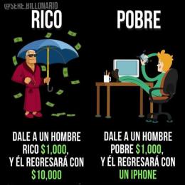 MENTALIDAD RICA VS POBRE