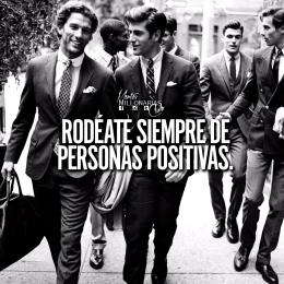 Rodéate siempre de personas positivas